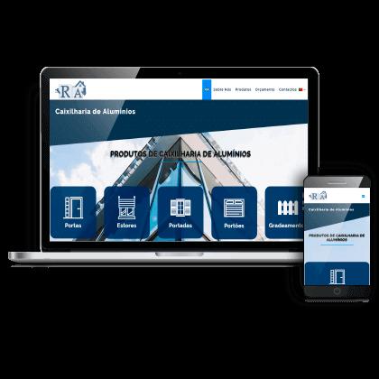 criação website institucional empresa de Pombal