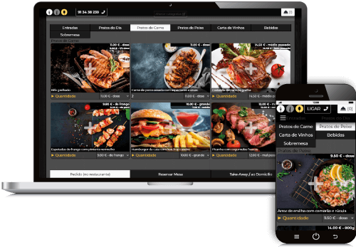 software ementa digital, gestão de pedidos no restaurante, reserva de mesa e take-away