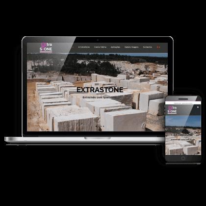 Website empresarial para empresa dedicada a extração de pedra e exportação